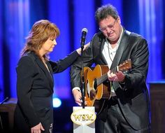 Patty Loveless and Vince Gill at the funeral for George Jones  (2013)