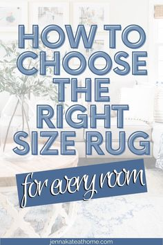 Struggling with rug placement? This guide shows you the perfect size rug for your living room, that giant sectional as well as bedrooms and dining rooms. It's going to be your saving grace! Living Room Sectional, Living Room Carpet, Rugs In Living Room, Inexpensive Rugs, Rug Over Carpet, Rug Placement, Small Throws, Saving Grace, Rug Size Guide