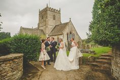 Homemade Ditsy Print Floral Bridesmaid Dresses | Lace House of Mooshki Wedding Dress | Vintage Inspired Cotswolds Wedding | DIY Decor | Images By Howell Jones Photography | http://www.rockmywedding.co.uk/kerry-rob/