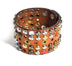 isabel-marant-Studded Leather Cuff - Lyst