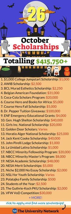 Scholarships Here is a selected list of October 2018 Scholarships.Here is a selected list of October 2018 Scholarships. School Scholarship, Scholarships For College, Graduate School, College Students, Planning School, College Planning, Financial Planning, Finanz App, College Life Hacks