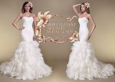 Jueshe Simple Elegant Sweetheart Mermaid Gown