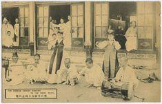 日本近代史の歴史認識をまとめています 撮影年不明 朝鮮の風俗のはがき 演奏と妓生の踊り
