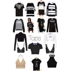 Tops by prettyfulpam on Polyvore featuring polyvore, fashion, style, Hood by Air, Zoe Karssen, 5cm, Vans, Abercrombie & Fitch, Topshop, Lipsy, T By Alexander Wang, H&M and Givenchy