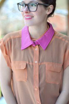 DIY colorblock collar--so easy
