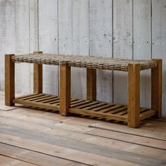 Teak Storage Bembridge Bench Garden Trading