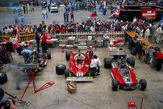 Ferrari 1977 : paddock à l'ancienne!!