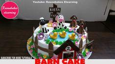Barn yard or farm animals theme Birthday cake for baby girl Easy Kids Birthday Cakes, Easy Cakes For Kids, Cartoon Birthday Cake, Friends Birthday Cake, Animal Birthday Cakes, Frozen Birthday Cake, Baby Birthday Cakes, 2nd Birthday, Happy Birthday