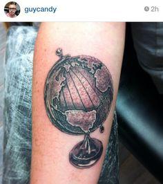 Traditional World Globe Tattoo 3d