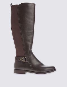 b20c827b926 Block Heel Knee High Boots. Botas Flexi ...