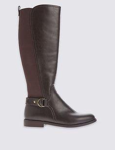 5cdac2611e8 Block Heel Knee High Boots. Botas Flexi ...