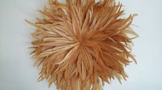 Golden yellow Juju hat style wall decoration by duckeggpark