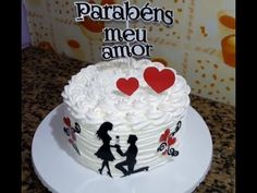 CONFEITANDO BOLO PARA DIA DOS NAMORADOS - YouTube Bus Cake, Happy Anniversary Cakes, Cake Decorating Videos, Valentine Cake, Engagement Cakes, Magical Christmas, Drip Cakes, Cake Cookies, No Bake Cake