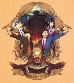 Professor Layton and Phoenix Wright...I want this game to come to the US so badly.