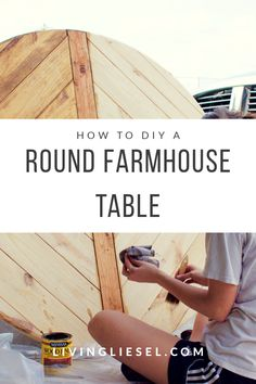 How to DIY a Round Farmhouse Dining Table - round table seating wedding round table round pedestal table wood table dining beautiful table sett - Table Bar, Diy Dining Table, Table Seating, Rustic Table, Diy Wood Table, Round Wooden Dining Table, Pallet Table Top, Diy Table Top, Round Table Top