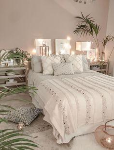 boho Schlafzimmer Tropical Home Living Room Bedroom, Dream Bedroom, Home Bedroom, Interior Design Living Room, Living Room Decor, Modern Bedroom, Contemporary Bedroom, Bed Room, Bedroom Green