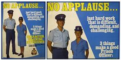 #Prison work is still tough but the applause ban has been lifted. #RetroAd Are you up for a new career? http://www.careers.justice.nsw.gov.au/Pages/our-roles/corrections-careers/corrections-careers.aspxpic.twitter.com/B6vRysOVpA