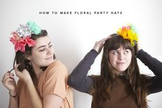 floral party hats