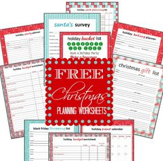 FREE Printable Holiday Planning Worksheets! Love these Checklists and Worksheets to save money on Christmas!
