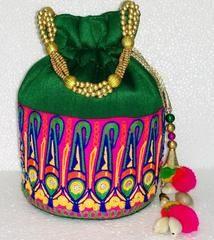 Green colour  Designer Clutches : Navishka Collection -  YF-43127
