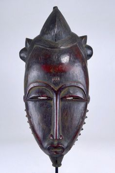 Handsome Old Baule Mblo Portrait Mask, African Mask