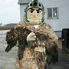 Sparty went wolverine hunting #bleedgreen #spartans