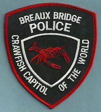 BREAUX BRIDGE LOUISIANA POLICE PATCH