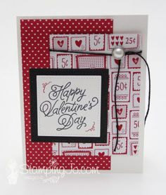 Sealed With Love stamp set, Stampin Up, 2017 Occasions Catalogue, stamped Valentine card