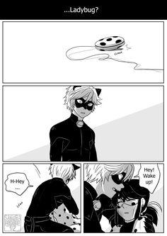 "(1) sakura-rose12: Miraculous Ladybug Comic - Cat Blanc "" you hurt the love of my life I'm gonna destroy you """