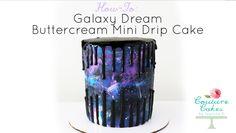 Galaxy Buttercream Douple Drip Cake TUTORIAL