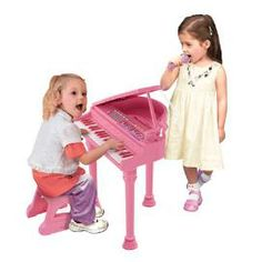 Toddler One Two Three: Preloved Kids' Pink Symphonic Grand Piano