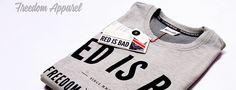 Grey, freedom tshirt Freedom Apparel.