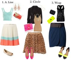 """""""Best Skirt Styles for Petite Inverted Triangle"""" by jesiharwood on Polyvore"""
