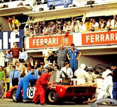 Pedro Rodriguez / David Piper, #18 Ferrari 312P (SpA Ferrari SEFAC), 24 Hours Le Mans 1969 (DNF)