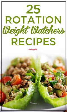 Add these 25 Rotation Weight Watchers Recipes to your Weight Watchers menu! #ww #cleaneating #skinnyms