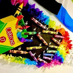 🖍🌈🖍 I may or may not go a little over the top for Bulletin Board contests. Each student is sitting on a crayon holding a QR code that is… Diversity Bulletin Board, Crayon Bulletin Boards, Teacher Bulletin Boards, Birthday Bulletin Boards, Back To School Bulletin Boards, Preschool Bulletin Boards, Birthday Board, Over The Top, Crayon Themed Classroom