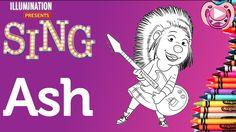 Personagens Filme Sing 🎙️ Colorir a Ash