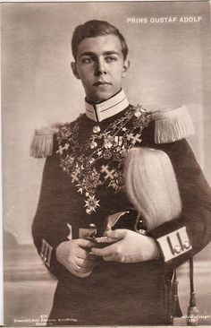 Crown prince Gustaf Adolf of Sweden, duke of Västerbotten.