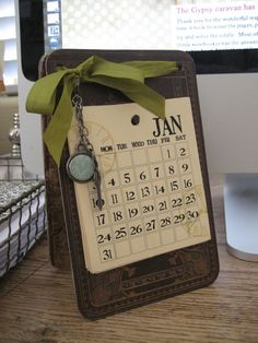 One Lucky Day: Best Wishes for the New Year Calendar Tutorial Cute Crafts, Crafts To Make, Diy Crafts, Cute Calendar, Calendar Ideas, Desktop Calendar, Office Calendar, 2012 Calendar, Calendar Board