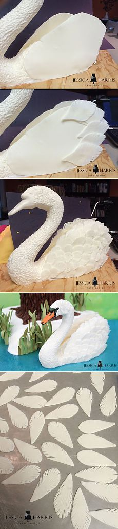 How To Make An Edible Swan Cake - FREE Tutorial