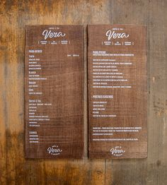 Carta sobre madera serigrafiada