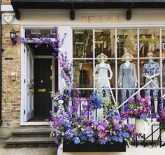 Shop with flowers during Belgravia in Bloom, London