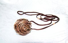 Round copper Necklace circle necklace fashion by JD4dreamer, $22.00