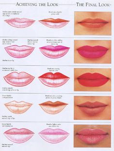 How to make up lips