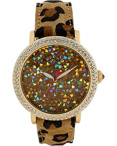 ROCK CRYSTAL LEOPARD WATCH LEOPARD accessories jewelry watches fashion