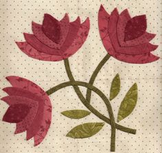 Barbara Brackman's MATERIAL CULTURE: Northern Lily Southern Rose Block 4