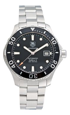http://ebuywatchesonline.info/tag-heuer-mens-aquaracer-calibre-5-stainless-steel-black-dial-watch-wan2110-ba0822-review/ Tag Heuer Men's Aquaracer Calibre 5 Stainless Steel Black Dial Watch #WAN2110.BA0822