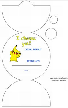 Excellent Images Birthday Invitations free printable Ideas If you're on the point of observe any marriage ceremony, like a wedding or simply a party, you are going to, obviously Pokemon Birthday Invites, Pokemon Party Invitations, Pokemon Themed Party, Free Printable Birthday Invitations, Birthday Party Invitations, Festa Pokemon Go, Pokemon Rosa, 6th Birthday Parties, Birthday Fun