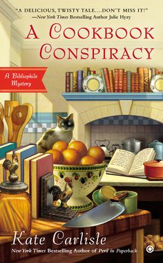 A COOKBOOK CONSPIRACY by Kate Carlisle -- It's a recipe for disaster when bookbinder Brooklyn Wainwright is asked to restore an antique cookbook….