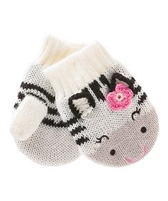 Zebra Mittens Infant